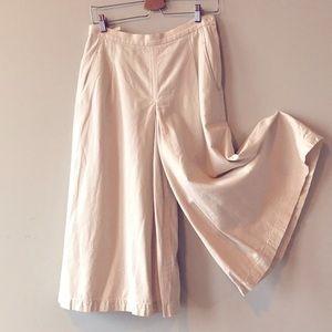 Uniqlo Cotton Linen Wide Legs Cropped Pants - 6